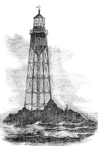 Маяк Бишоп Рок (The Bishop Rock Lighthouse) на островах Сцилли (Scilly Isles) образца 1847-1849 годов
